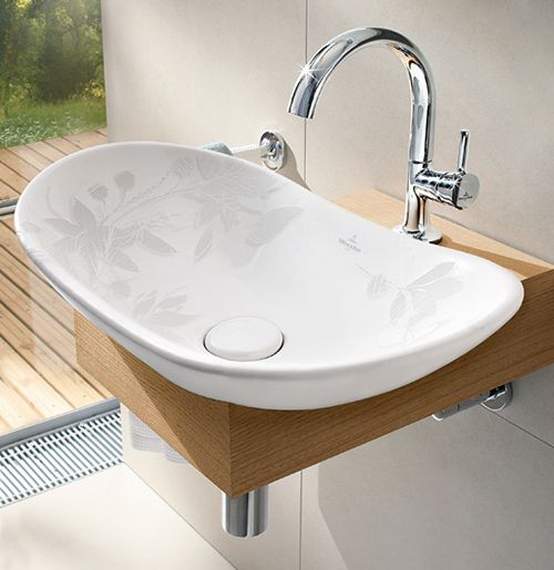 U0027My Natureu0027 Basin By Villeroy U0026 Boch. Welcomes Nature Into Your Bathrooms.the  Inside Of The Basin Has Image Of Chestnut Leaves And Blossoms