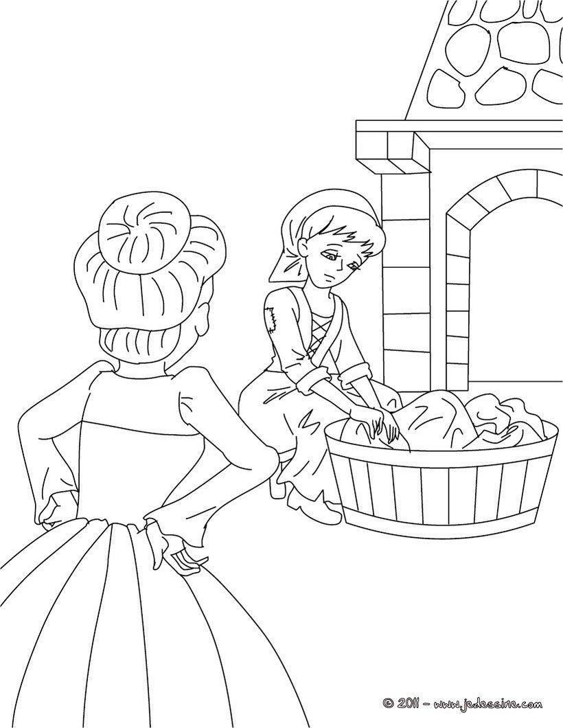 Colorier en ligne dessins contes pinterest fairy tales fairy et coloring pages - Coloriage en ligne cendrillon ...