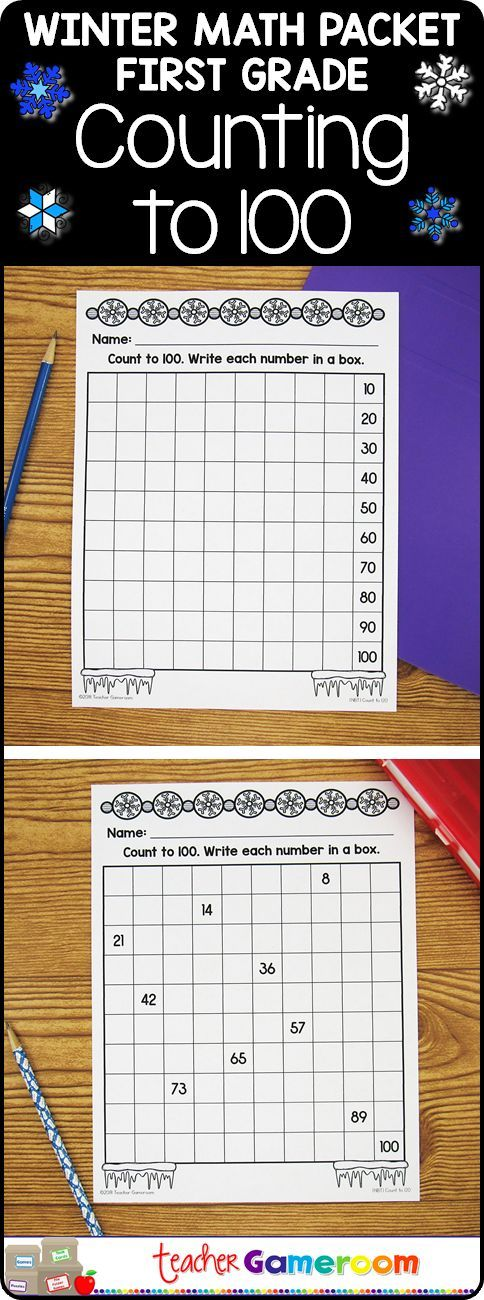 Counting to 100 Winter Worksheets - 1.NBT.1   Ideas for Teaching ...