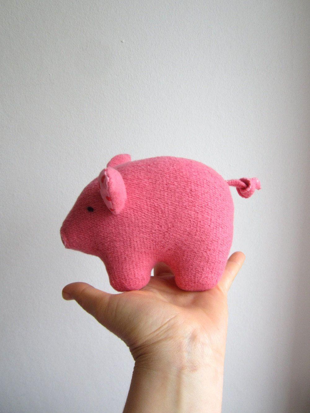 Pig, piglet, organic, pink, soft, toy, animal, baby, safe