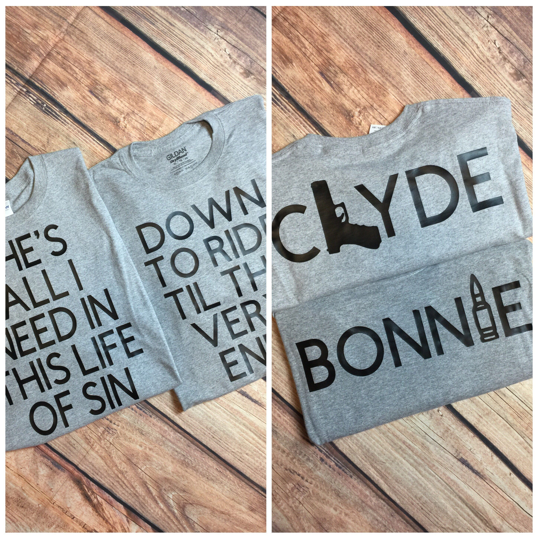 4f6e70d81 Bonnie & Clyde Couples Shirts Matching Couples Shirts Ride Or Dies Couples  Shirts Ride Or Die