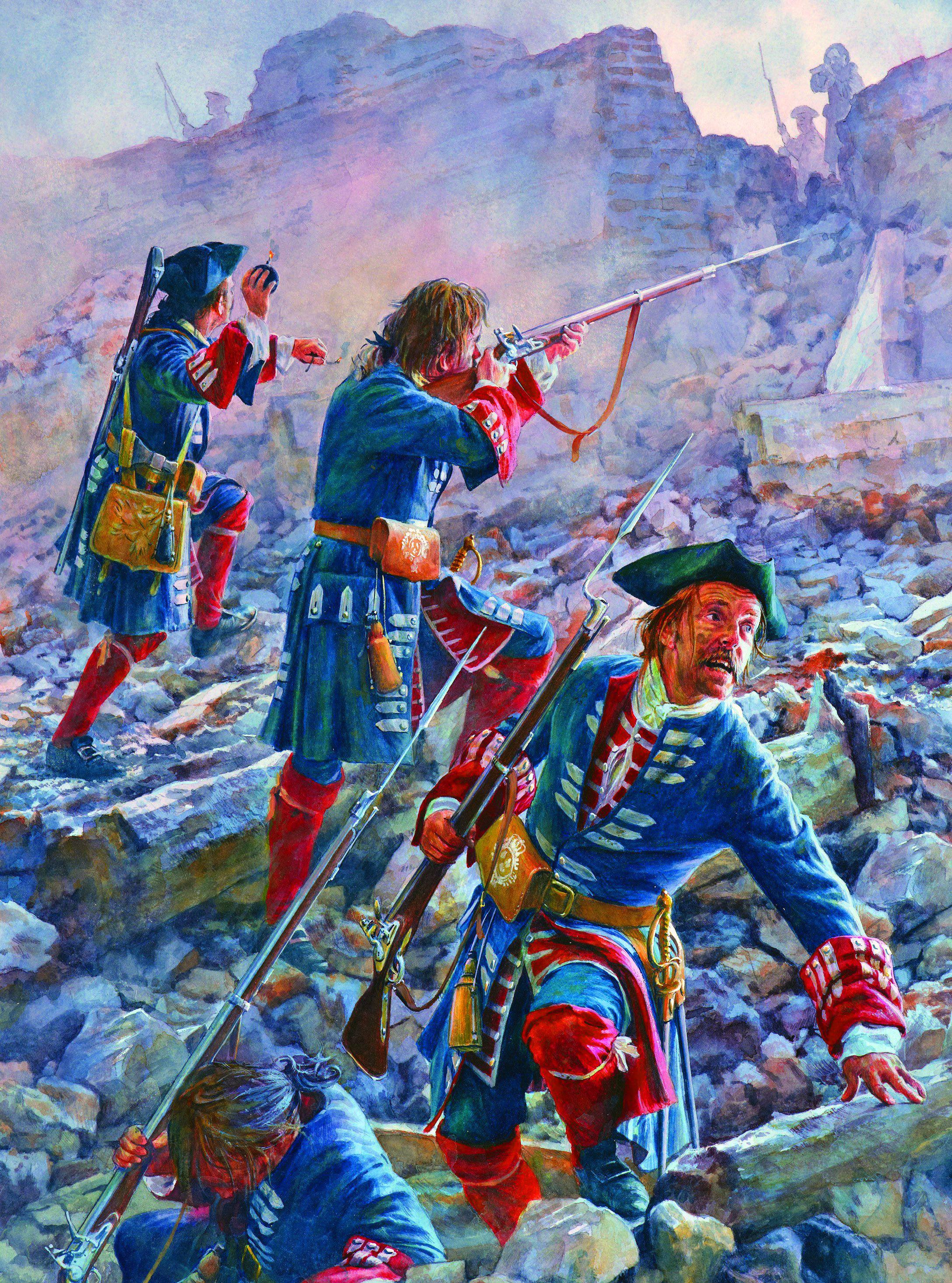 King Louis Xiv S Gardes Francaises Assaulting The Breach