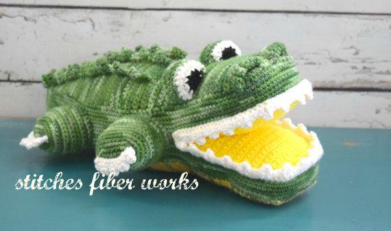 Alligator Crocodile Gator Crochet Alligator Crochet Crocodile