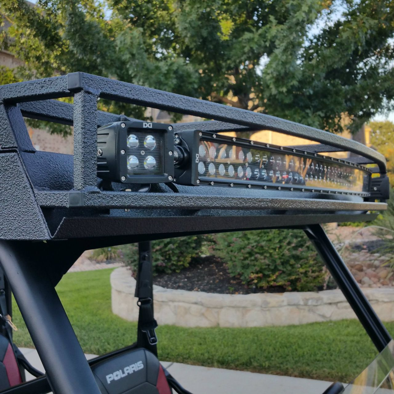 Ranch Armor Polaris Ranger Crew 900 One Piece Roof W Led Lights Within Size  1280 X 720 Auf Polaris Utv Metal Roof