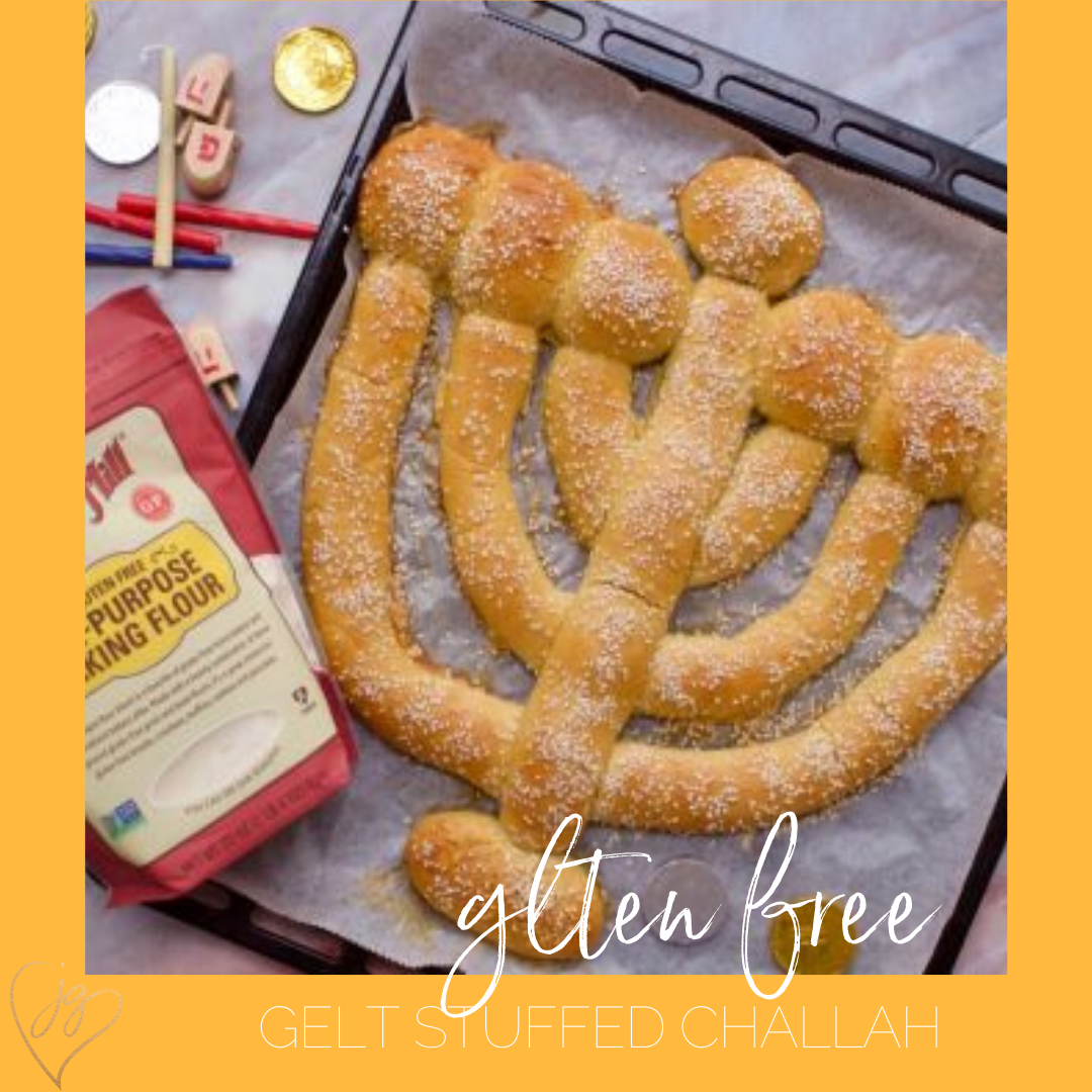 Gluten Free Gelt Stuffed Chanukah Challah Recipe Recipes Jewish Recipes Food