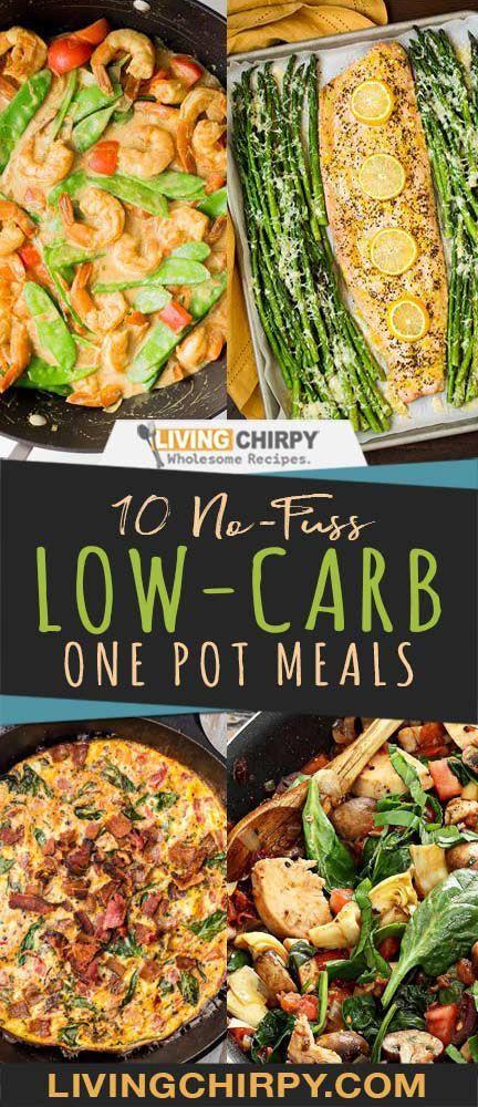 10 No-Fuss Low-Carb One Pot Meals #easyonepotmeals