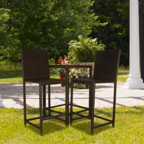 Indoor Outdoor Bar Height Wicker Bistro Set Only 299 00 Free Shipping