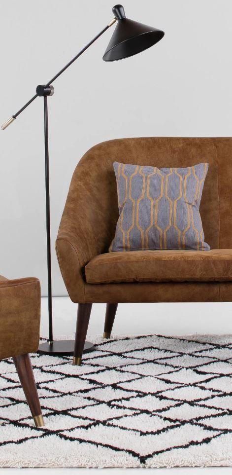 Seattle 2 Seater Sofa, Outback Tan Premium Leather