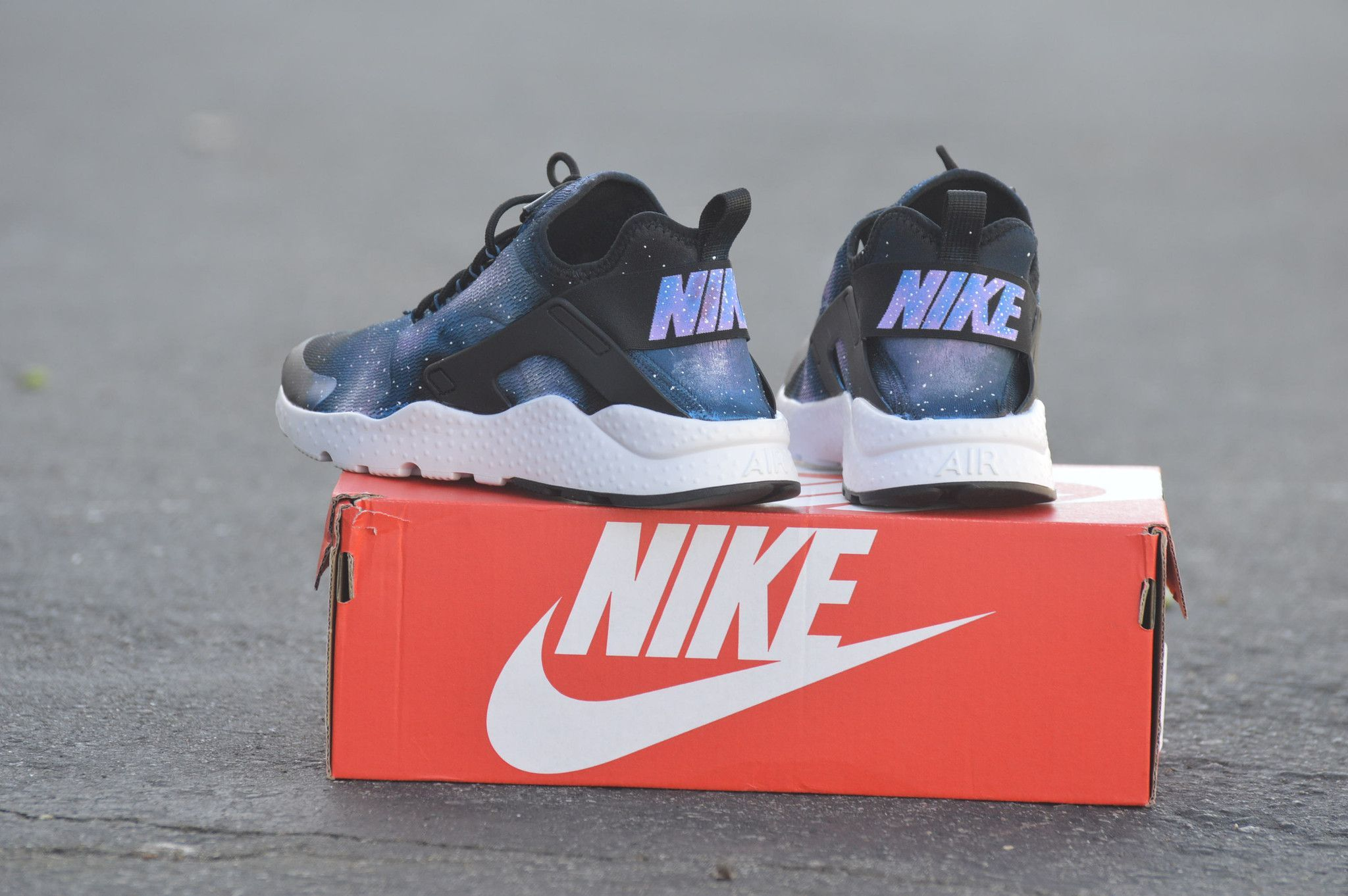 uk availability 164a3 a052d These Nike Huarache Ultras have been painted with a Galaxy Theme The Nike  Air Huarache Ultra Womens Shoe is crafted with a stretchy one-piece upper,  ...
