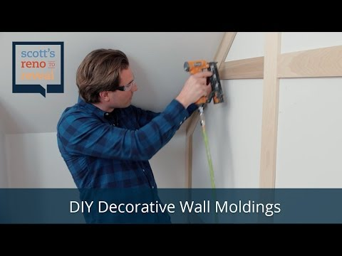 How To Diy Decorative Wall Moldings Youtube Decorative Wall Molding Wall Molding Diy Projects For Your Room