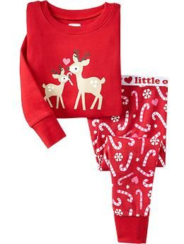 deer candy cane pj sets for baby old navy - Christmas Pajamas Old Navy