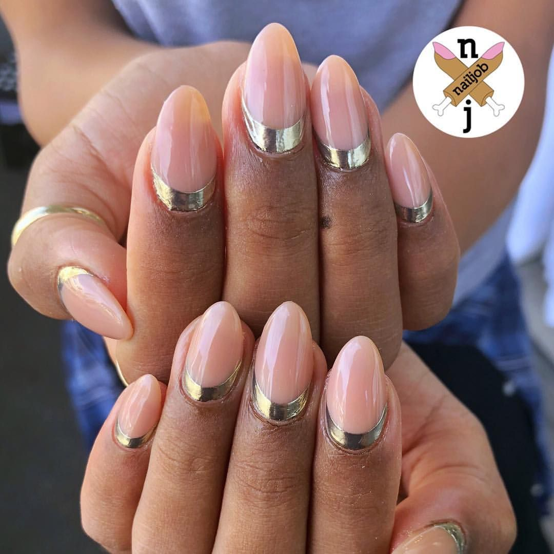 1 647 Likes 16 Comments Nails By Fariha Ali Nailjob On Instagram Gold Cuffs For Nicole Used Daily Charme Gold Trendy Nails Trendy Nail Design Nails