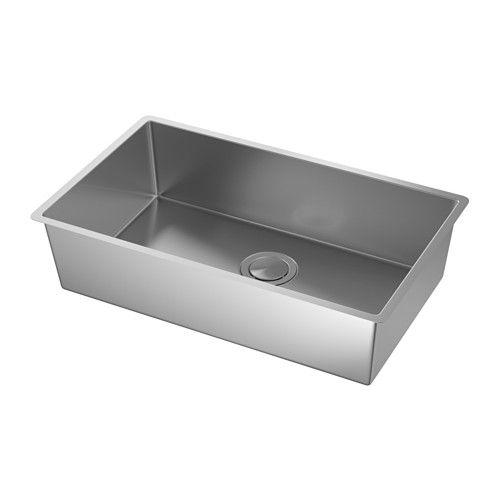 Norrsjon Sink Stainless Steel Bowl Depth 7 1 8 Learn More Ikea Inset Sink Sink Ikea