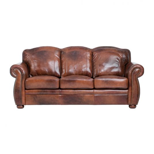 Small Sectional Sofa Terraso Living Room Collection Sofa in Chocolate Leather