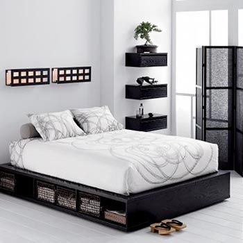 Platform Bed Clickthrough Gives The Idea To Use Tall Skinny