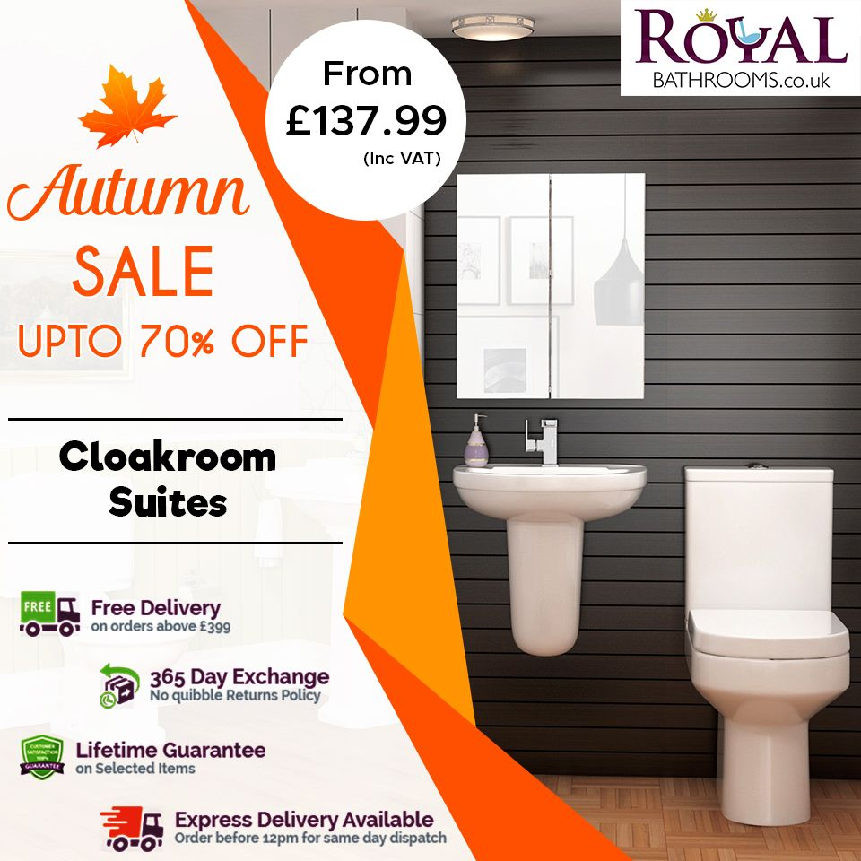 Royal Bathrooms Offer You Huge Sale On This Autumn Season With 70 Off Visit Now To The Official Store An Cloakroom Suites Complete Bathroom Sets Cloakroom