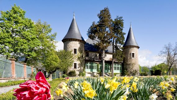 Château de Picomtal, Provence - Alps - Riviera, France. A splendid restoration of a very old château in the remote Haute Alpes. Big beds, chandeliers, and glorious views of Lake Serre-Poncon. From €130 per night for a double, breakfast €9