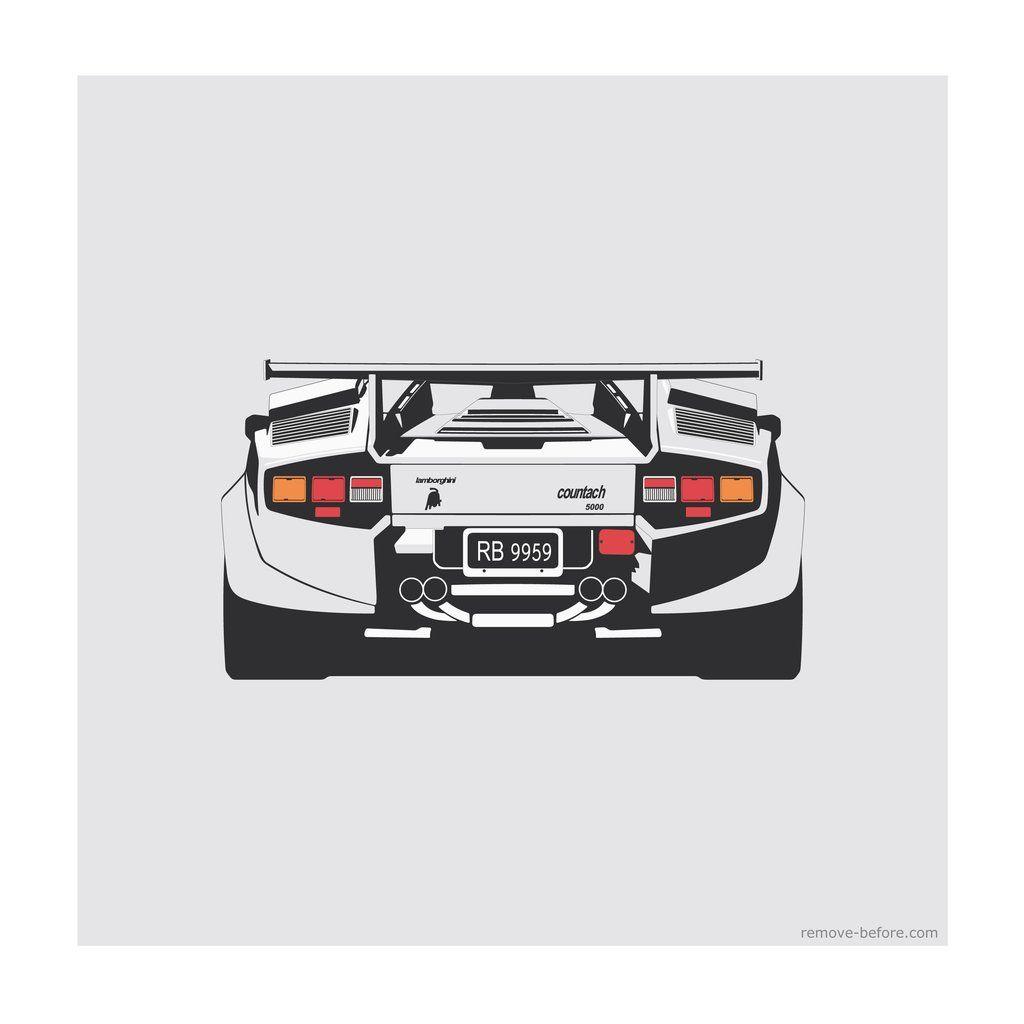 Remove Before Limited Edition Classic Car Print Lamborghini