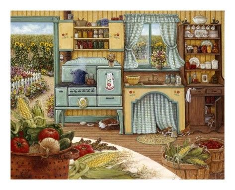 Cucina Anni 30 : Canning day in i want this illustrazioni
