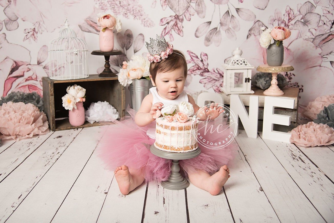 First Birthday Outfit Girl Pretty Mauve Pink Tutu Dress