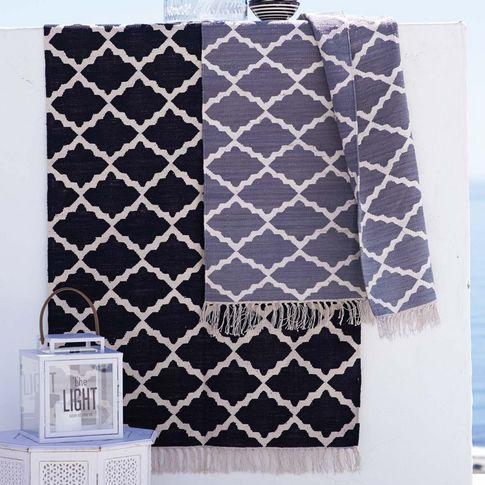 Teppich in grau\/weiss, schwarz\/weiss bei IMPRESSIONENCH Farben - wohnzimmer teppich schwarz weis