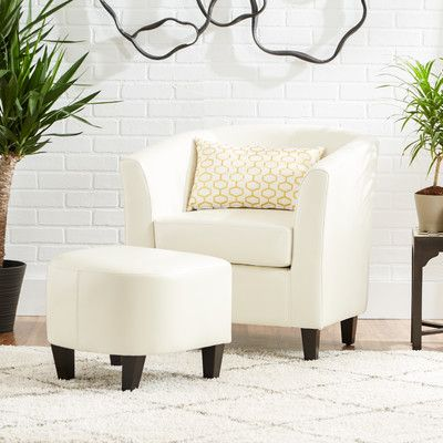Mercury Row Apollonios Retro Club Chair U0026 Ottoman Set U0026 Reviews | Wayfair