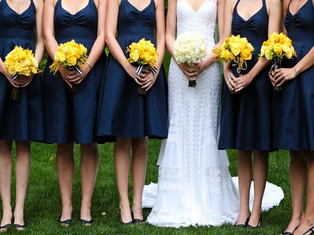 Photo via | Pinterest | Yellow flowers, Blue wedding flowers and ...