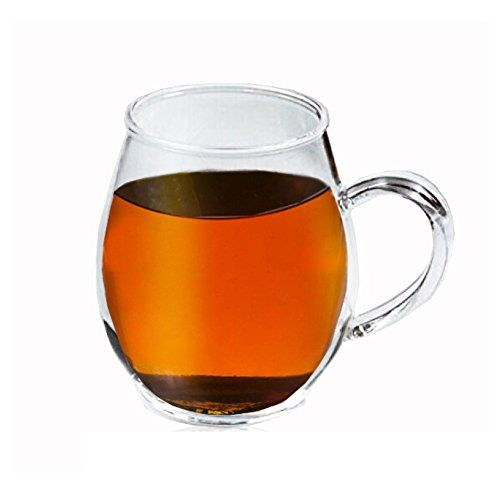 Sun S Tea 16oz Ultra Clear Light Weight Glass Tea Cup Coffee Cup