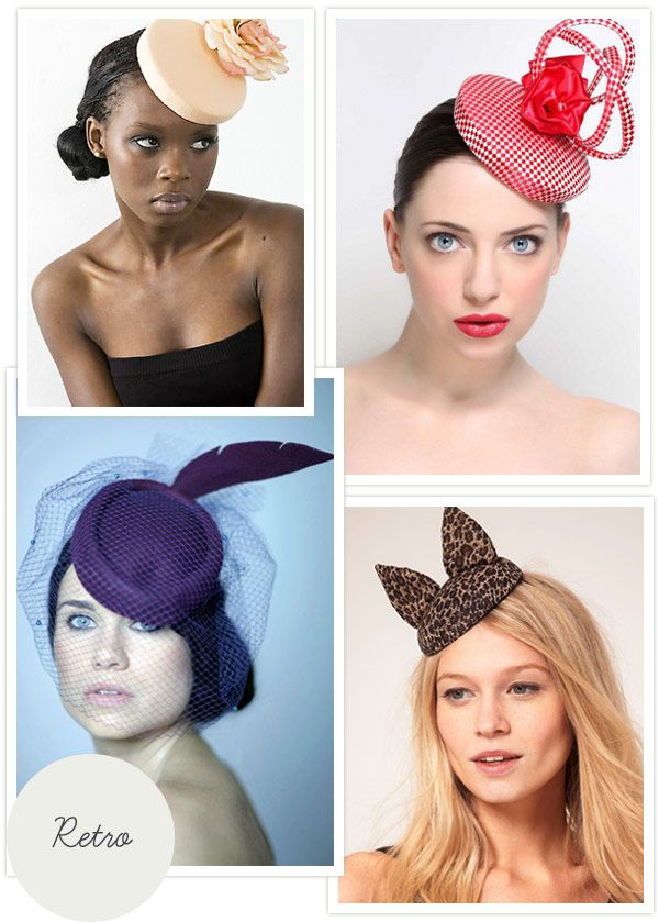 Love These Retro Style Wedding Guest Hats