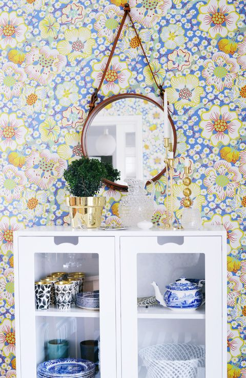 Floral wallpaper Carta da parati floreale, Carta da