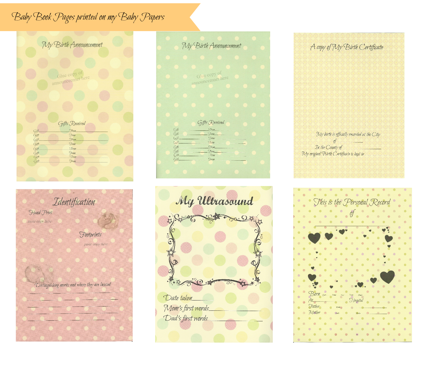 Free download baby book pages printed on my baby papers do it free download baby book pages printed on my baby papers baby memory booksbaby booksbaby book pagesdiy solutioingenieria Image collections