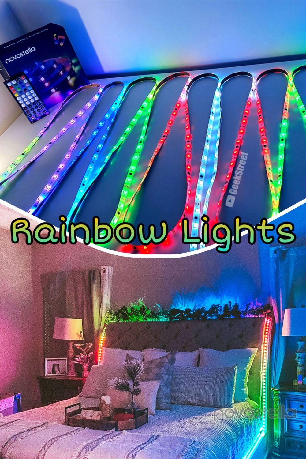 Rainbow Led Strip Lighting Ideas Diy Rainbow Light Awesome Bedrooms Led Strip Lighting