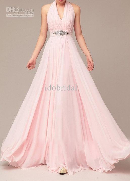 2013-new-arriva-halter-pink-chiffon-halter.jpg | Wedding ...