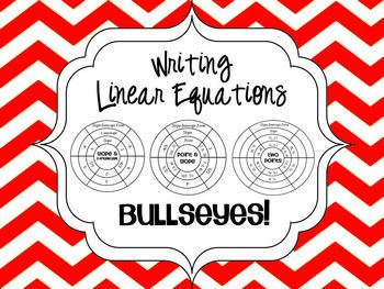 Writing Linear Equations Bullseye Activity