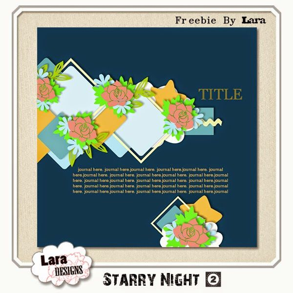 Lara's world: Freebie template: Starry Night02 by Lara