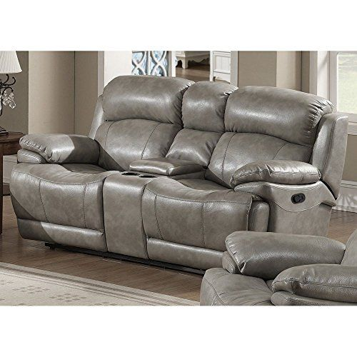 Ac Pacific Estella Reclining Loveseat With Storage Console You Can Get More Details By Clicking On The Image Leather Reclining Loveseat Recliner Love Seat