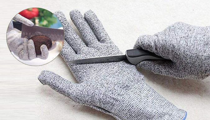 Cut Resistant Gloves - One or Two Pairs Protect your hands with a pair ofCut Resistant Gloves      Safely prepare food or work with metal, wood or glass      Made with the highest level of cut-resistant material available      4 times stronger than leather to prevent accidents      Lightweight and comfortable so they don't impair your movement      Food safe and machine washable for hygiene ...