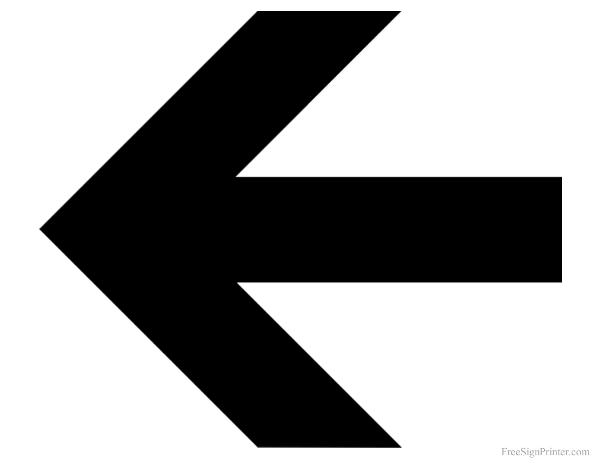 Playful image inside printable arrow signs