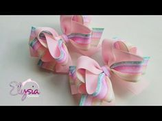 Rosy Ribbon Bow