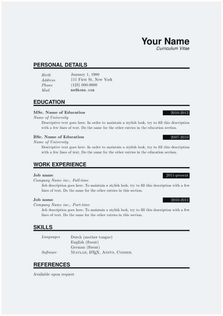 Pin di resume template design