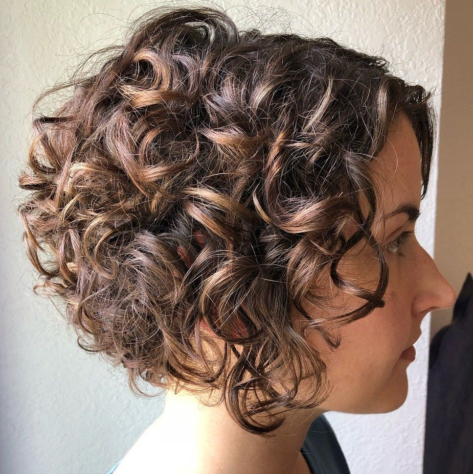 60 Most Delightful Short Wavy Hairstyles Curly Hair Photos Short Wavy Hair Curled Bob Hairstyle
