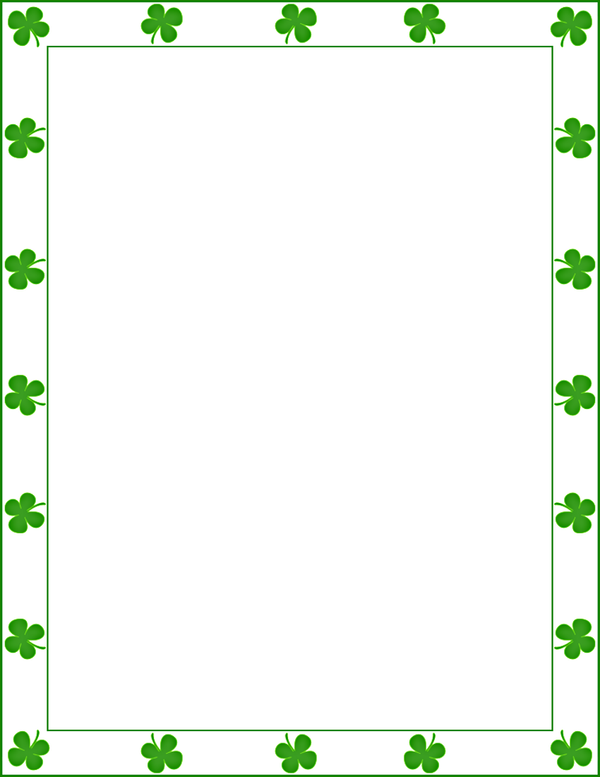 patrick's day frame png | Share saint patrick shamrock border ...