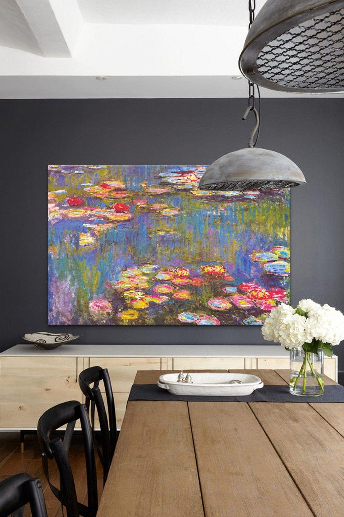 Water Lilies 1916 By Claude Monet Canvas Wall Art Hautelook Funky Home Decor Claude Monet Canvas Wall Art