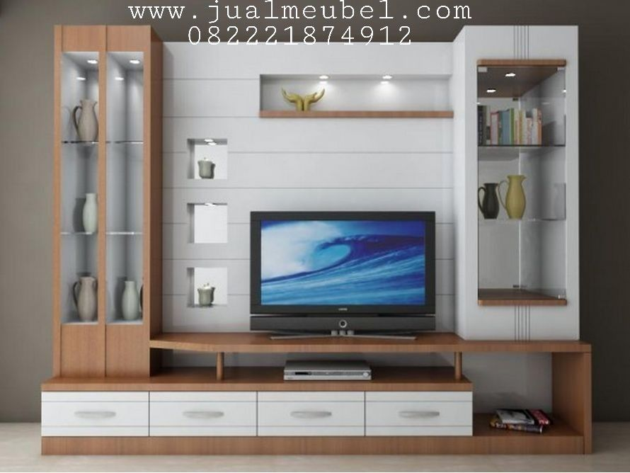 Lemari Hias Model Rak Kabinet Tv Minimalis Mewah Jual Meubel Modern Tv Wall Units Tv Wall Unit Wall Tv Unit Design