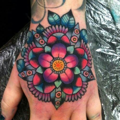 Mandala Tattoo Hand Oldschool Beautiful Tattoo Henna