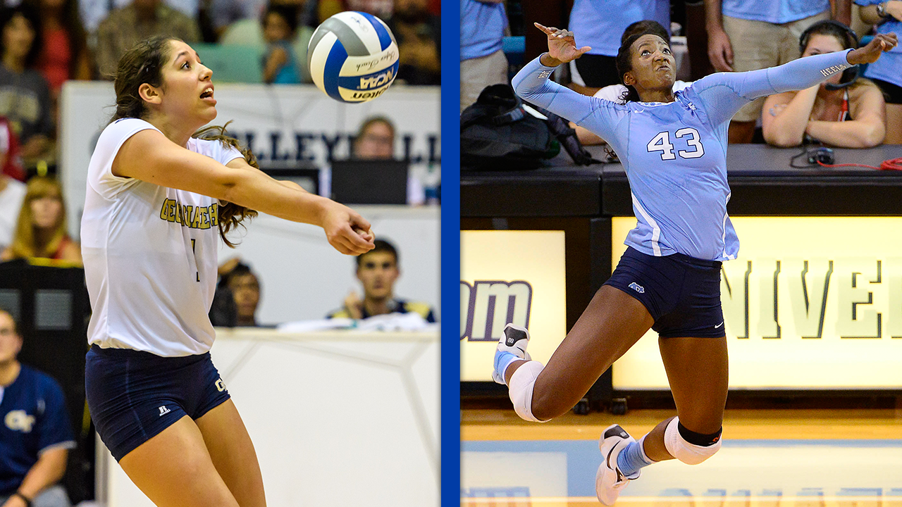 Acc Volleyball Taylor Leath And Kodie Comby Earn Weekly Honors News Volleyball News Volleyball Leath