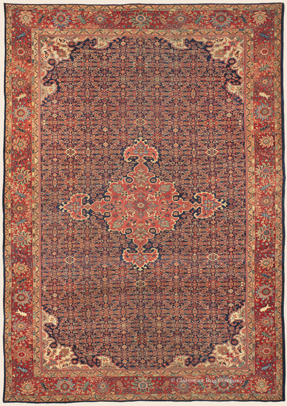 Antique Ziegler Sultanabad Rugs 9ft X 12ft With A Latticework Allover Herati Pattern Antique Rug Claremont Rug Compa In 2020 Sultanabad Rug Rugs On Carpet Tribal Rug