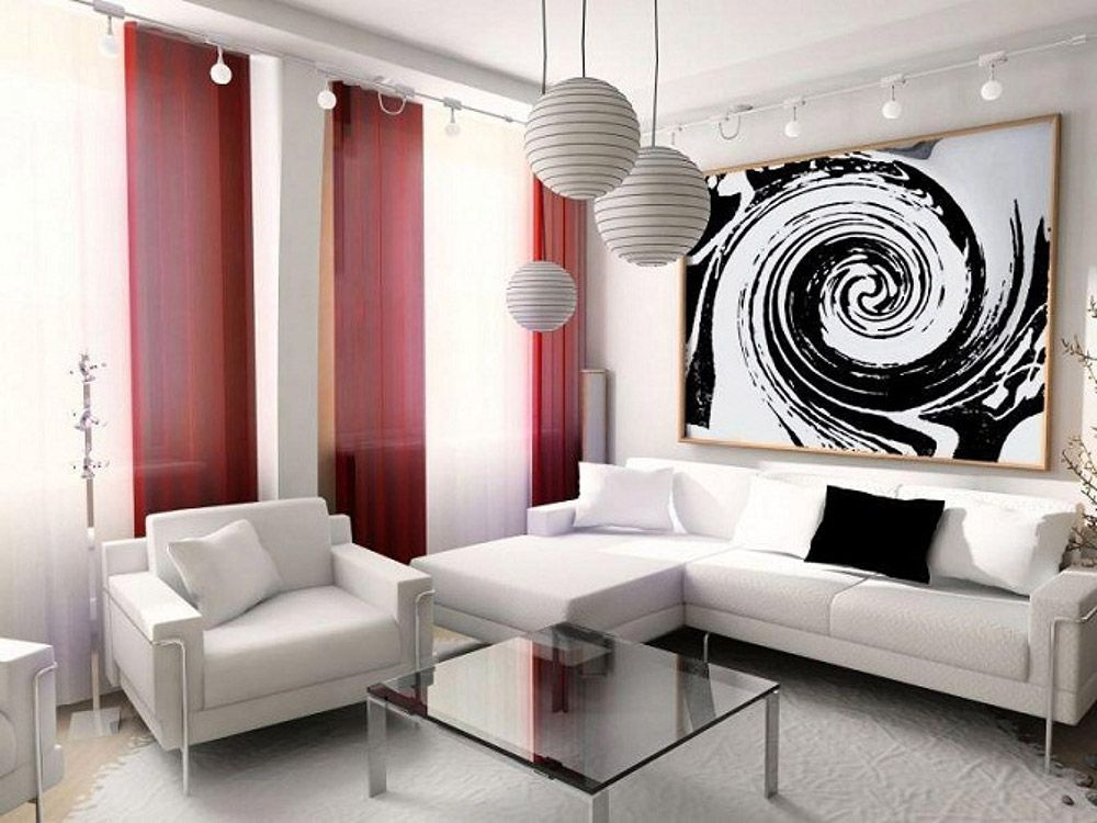 Будьте готовы к тому, что картина займет доминирующие позиции и будет отвлекать от красоты обивки или текстуры обоев.