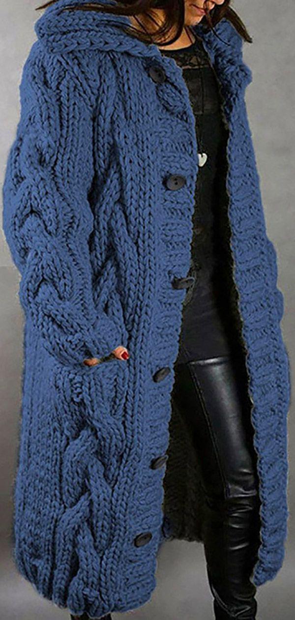 Hot Sale!Women Winter Autumn Fashion Long Sweater Cardigan Loose Outerwear