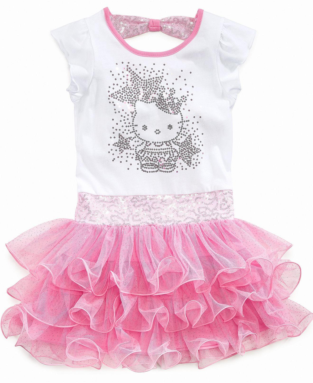 Hello Kitty Girls Dress Little Girls Princess Tutu Dress